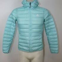 Adidas Women's Down  Lightweight Hood Outdoor Puffer Jacket Sz Xs Photo