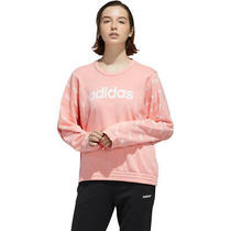 Adidas Women's Favorite Sweatshirt Pink White Size Medium New With Tags. Photo