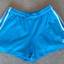 Adidas Women's Nice Blue Athletic Running Shorts Size Medium Guc Free Shipping Photo