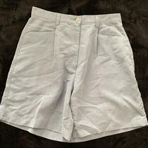 Adidas Womens Pleated Small Whale Light Blue Cordurouy Shorts - Size 8 Photo