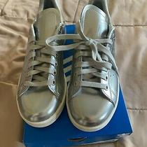 Adidas Women's Stan Smith Silver Metallic Shoes Fw5477 Size 7 Us New With Box Photo