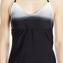 Adidas Women's Swimwear Gray Black Size 6 Ombre Tankini Top Halter 44 622 Photo