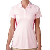 Adidas Women's Tour Climachill Peplum Polo Shirt Blush Pink Xl Photo
