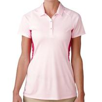 Adidas Women's Tour Climachill Peplum Polo Shirt Blush Pink Xl Photo