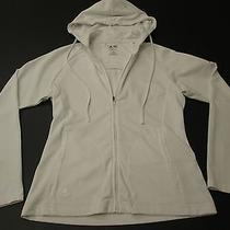 Adidas Women's White Athletic Full Front Zip Jacket Size S