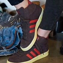 Adidas Women Shoes Sneakers Hook Shot High Top Burgundy Rare Free People Sz 6.5 Photo