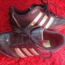 Adidas Women Sneakers Black and Gold Size 6 Photo