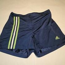 Adidas Womens Blue/green/white Athletic Training Snap Shorts Size Medium Photo