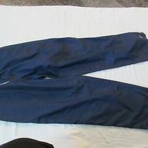 Adidas Womens Pants -Navy Blue and White - Polyester - Size L Photo