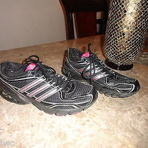 Adidas Womens Running Shoes Pink Black Size 10 Photo