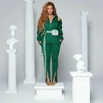 Adidas X Ivy Park Drip 2 Beyonce Dark Green 3 Stripe Track Pants (Unisex) Size S Photo