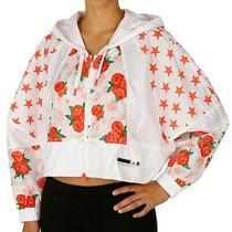 Adidas X Stella Mccartney White Rose Cropped Windbreaker Batwing Sleeve Jacket M Photo