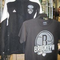Adidas Youth Large(14-16) Fleece Pullover & T-Shirt Nba Brooklyn Nets Item 80 Photo