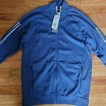 Adidas Zip Up Jacket Size S Men   Navy Blue  Photo