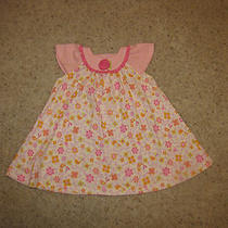 Adorable Baby Lulu Au Naturel Organic Cotton Floral/striped Dress 12 Months Euc Photo