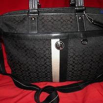 Adorable Black Coach Xl Tote Diaper Laptop Bag Excellent Condition A1093-F13813 Photo