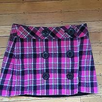 Adorable Express Plaid Skirt With Buttons Photo
