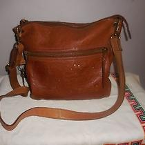 Adorable Large Brown Leather Fossil Purse / Shoulder Bag Vintage Collection Photo