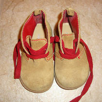 Adorable Little Boys Baby Gap Brown Leather Shoes Us Size 5 Good Used Condition Photo