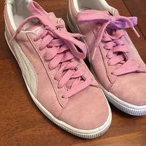 Adorable New Puma Blush Pink Suede Womens Classic Sneakers 8.5 Photo