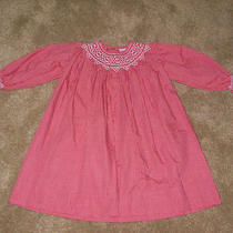 Adorable Orient Expressed Smocked Red/white Dress Sz. 2 Photo