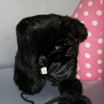 Adorable Victorias Secret Pink Fur Trapper Ski Hat Fun Fun New Photo