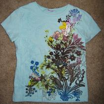 Adorable Walt Disney's  Tinkerbelle  Fairy Floral Print Girl's Top S/m Sweet Photo