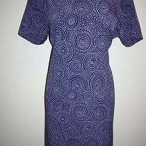 Adorable Womens Express Purple Dress Size 13/14 Polyestershort Sleevefast Photo