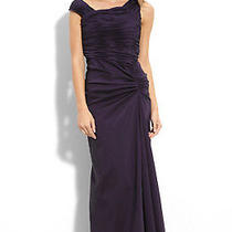 Adrianna Papell Asymmetrical Taffeta Gown (Size 6) Photo