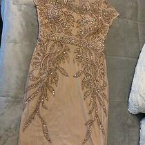 Adrianna Papell Beaded Sequin Size  8p Blush Rose Color Formal Party Dress Photo