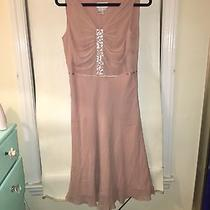Adrianna Papell Blush Dress Size 8 Formal Wedding Bridesmaid Homecoming Photo