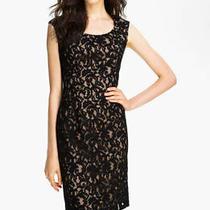 Adrianna Papell Cap Sleeve Lace Sheath Dress (Size 14) Photo