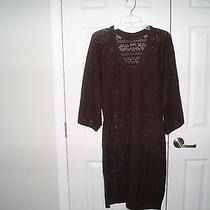 Adrianna Papell Crocheted See Through Coverup Dress Size Xl Nwt Photo