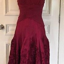 Adrianna  Papell Evening Dress Size 6 Color Maroon Photo