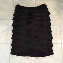 Adrianna Papell Evening Essentials Black Tiered Skirt Size 6 Photo
