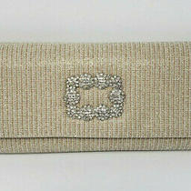 Adrianna Papell H1 Sookie Nude / Silver Rhinestone Small Clutch. Photo