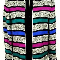 Adrianna Papell Jacket Sz 4 Silk Dressy Evening Silk Blouse Top Blazer  Photo
