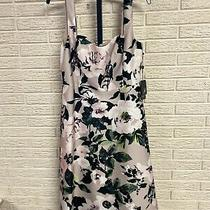 Adrianna Papell Misses Dress Cocktail Party Lined Floral Black 10 New 218 L304 Photo