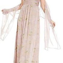 Adrianna Papell New Blush Pink Floral Print Womens 4 Chiffon Tea Dress 229 107 Photo