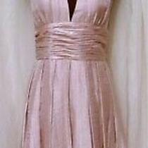 Adrianna Papell Pink Halter Dress Vintage Open Back Dress  Size 10 Dress  Photo