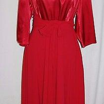 Adrianna Papell Red Dress Size 14 Photo