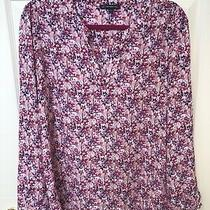 Adrianna Papell Top Size L Nwot Pink Floral Photo