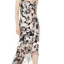 Adrianna Papell Women's Dress Black Size 8 Sheath Embellished Midi 228 222 Photo