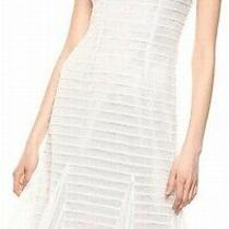 Adrianna Papell Womens Dresses White Size 4 a-Line Crewneck Shimmer 169- 434 Photo