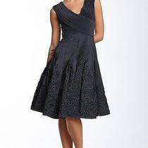 Adrianna Papellmatte Jersey & Taffeta Dress (Size 2) Photo