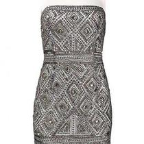 Adrianna Pappell Mesh Heavy Beaded Cocktail Dress Photo