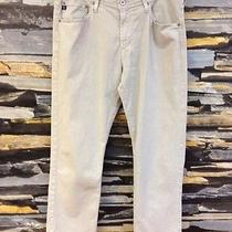 Adriano Goldschied Men's Graduate Tailored Leg Pants in Bleached Sand Size 34x32 Photo
