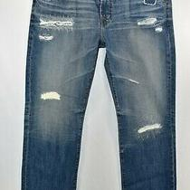 Adriano Goldschmied Ag the Protege Straight Jeans Mens Size 36 Blue Meas. 37x34 Photo