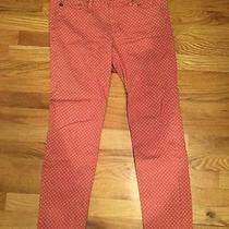 Adriano Goldschmied Ag the Stevie Ankle Slim Straight Leg Jean Size 29r Salmon Photo