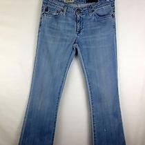 Adriano Goldschmied Carly Flare Denim Jeans Sz 27 X 28 Short Inseam Light Wash Photo